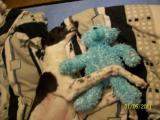 Maffy s jejím medvídkem