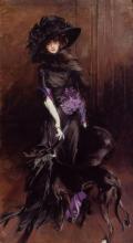 La Marchesa Luisa Casati con un levriero (Giovanni_Boldini, 1842-1931)