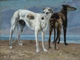 Gustave_Courbet_-_The_Greyhounds_of_the_Comte_de_C